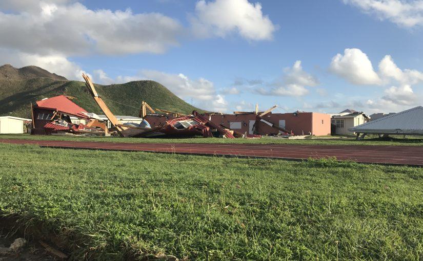 Quand Irma s'abat sur Saint Martin, <br>les installations de l'EPS sont aux premières loges mais les collègues aussi !