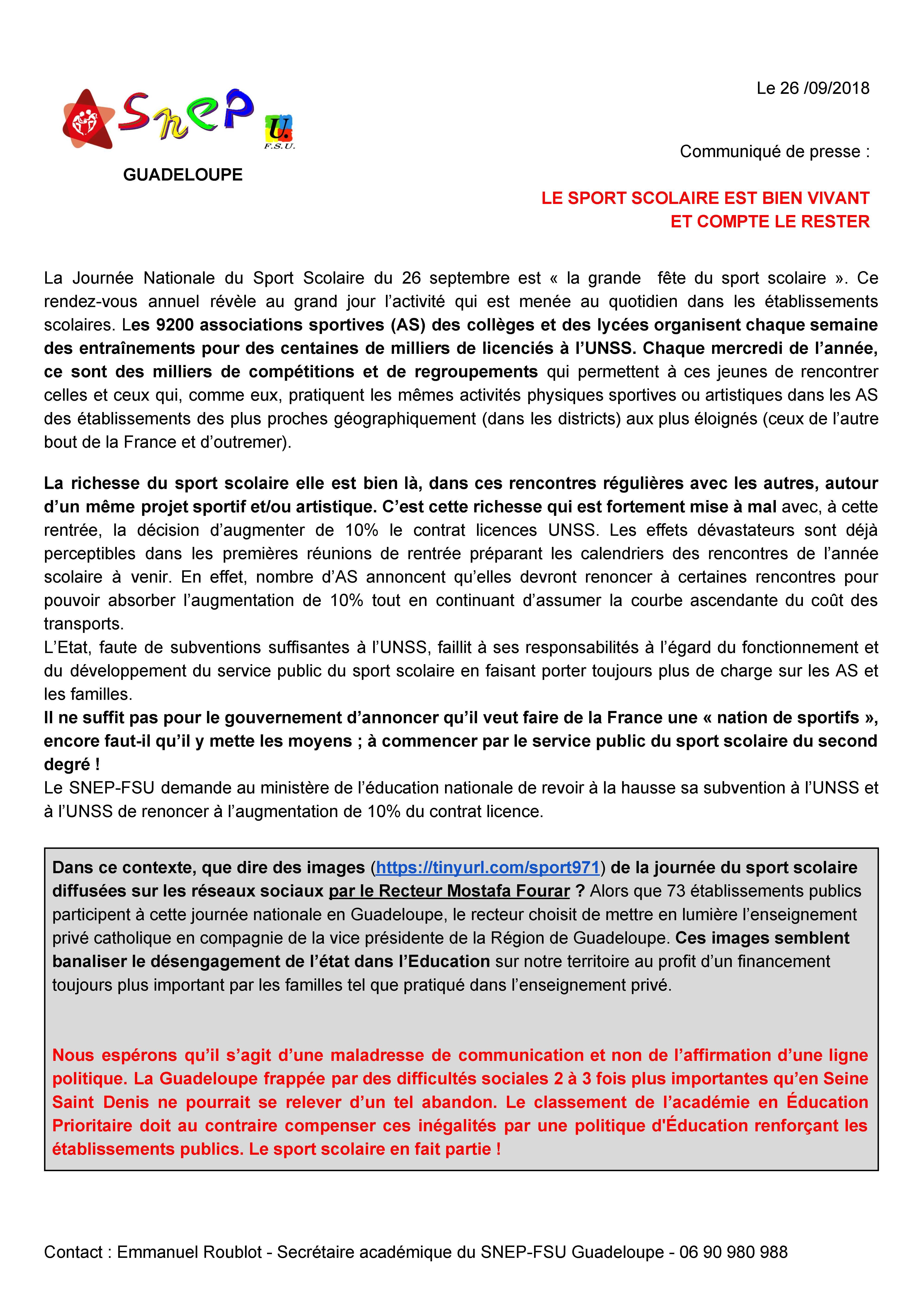 thumbnail of Communiqué de presse SNEP-FSU Guadeloupe Le sport scolaire est bien vivant et compte le rester !(5)-1