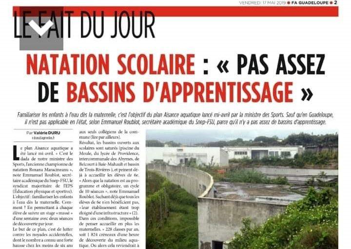 Communiqué SNEP-FSU Guadeloupe : Woulo !!! Bientôt tous à l'eau ?